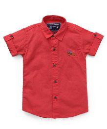 Jash Kids Half Sleeves Solid Shirt - Red