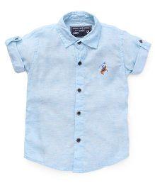 Jash Kids Half Sleeves Shirt - Sky Blue