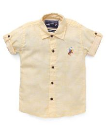 Jash Kids Half Sleeves Shirt - Lemon Yellow