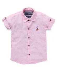Jash Kids Half Sleeves Shirt - Pink