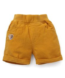Jash Kids Solid Color Four Pockets Shorts - Mustard Yellow