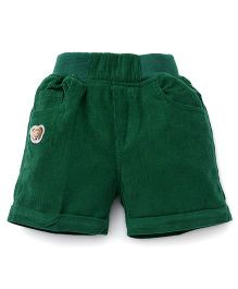 Jash Kids Solid Color Four Pockets Shorts - Green