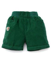 Jash Kids Solid Color Four Pockets Shorts - Green