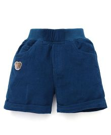 Jash Kids Solid Color Four Pockets Shorts - Peacock Blue
