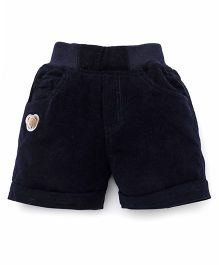 Jash Kids Solid Color Four Pockets Shorts - Navy Blue
