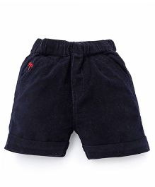 Jash Kids Solid Color Shorts - Navy Blue