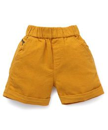 Jash Kids Solid Color Shorts - Mustard Yellow