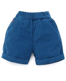 Jash Kids Solid Color Shorts - Peacock Blue