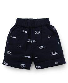 Jash Kids Printed Shorts - Navy Blue