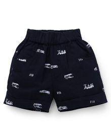 Jash Kids Printed Shorts - Navy Blue
