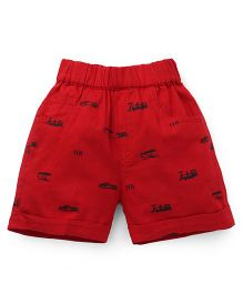 Jash Kids Printed Shorts - Red