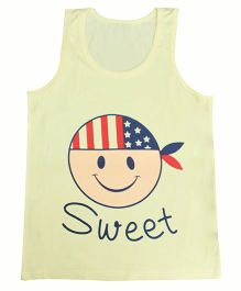 Kiwi Sleeveless Vest Sweet Print - Yellow