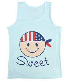 Kiwi Sleeveless Vest Sweet Print - Blue