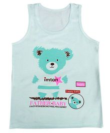 Kiwi Sleeveless Vest Teddy Print - Blue