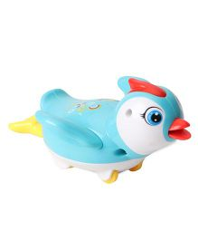 Playmate Wind Up Penguin Toy - Sky Blue