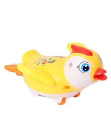 Playmate Wind Up Penguin Toy - Yellow