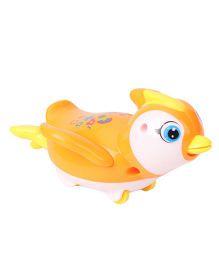 Playmate Wind Up Penguin Toy - Orange