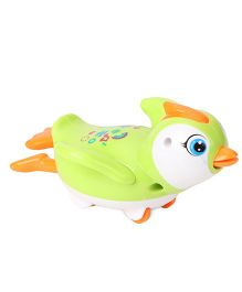 Playmate Wind Up Penguin Toy - Green