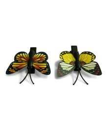 Mauve Collection SEt Of 2 Butterfly Hair Clip - Multicolor
