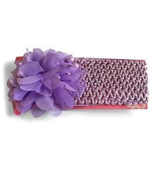 Mauve Collection Hello Kitty Flower Embellished Headband - Purple
