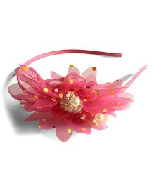 Mauve Collection Flower Applique Hairband - Pink