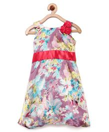 Winakki Kids Sleeveless Flower Printed Dress - Pink
