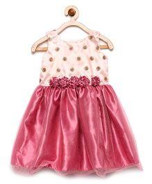 Winakki Kids Mini Flower Bodice Applique Dress - Rose Pink