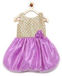 Winakki Kids Bodice Sequin Work Ballon Dress - Lavender