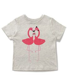 The Lion And The Fish Flamingo Printed Tee - Grey