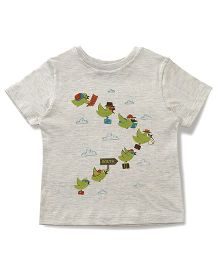 The Lion And The Fish Playing Birds Tee - Melange