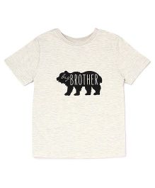 The Lion And The Fish Lil Brother Printed Tee - Melange