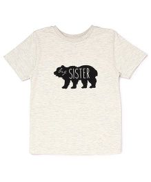 The Lion And The Fish Big Sister Printed Tee - Melange