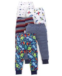 Kidi Wav Vehicle Printed Pajamas Pack Of 5 - Navy Blue