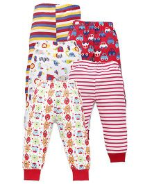 Kidi Wav Aeroplane Printed Pajamas Pack Of 5 - Red