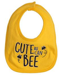 Needybee Caterpillar Embroidered Baby Feeding Bib - Yellow