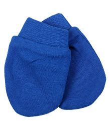 Needybee Solid Baby Mittens - Blue