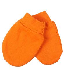 Needybee Solid Baby Mittens - Orange