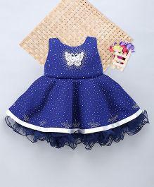 Eiora Beautiful Dust Print Dress - Blue