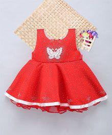 Eiora Beautiful Dust Print Dress - Red