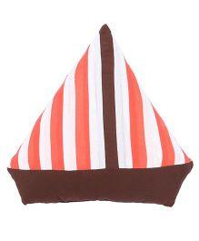 Hugsntugs Ship Cushion - Brown & Orange