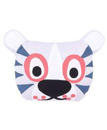 Hugsntugs Tiger Face Cushion - White