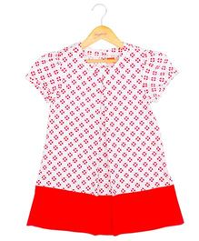 Hugsntugs Small Heart Print Dress - Red