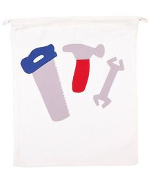 Hugsntugs Tools Patched Bag - White