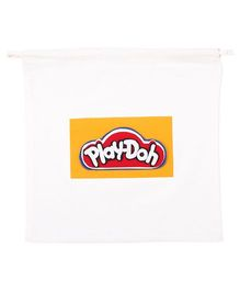 Hugsntugs Playdoh Patched Bag - White