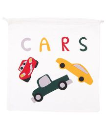Hugsntugs Cars Patched Bag - White