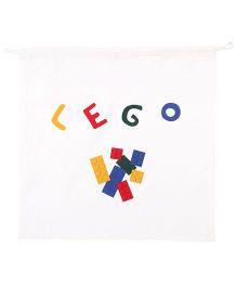 Hugsntugs Lego Patched Bag - White