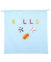 Hugsntugs Balls Patched Bag - Blue