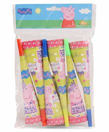 Peppa Pig Party Paper Horn 6 Pieces - (Color May Vary)