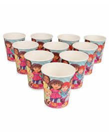 Dora & Friends Paper Glasses Pack Of 10 - Pink