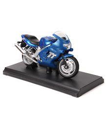 Welly Die Cast Toy Bike Model Triumph 2002 TT 600 - Blue